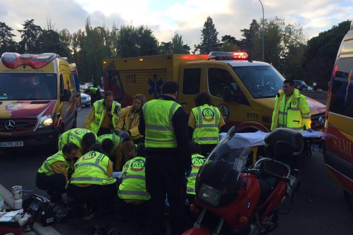 Herido muy grave un motorista en Madrid