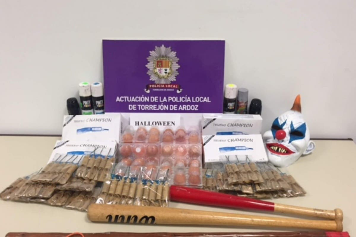 La Policía de Torrejón incauta máscaras de «payasos asesinos» en Halloween