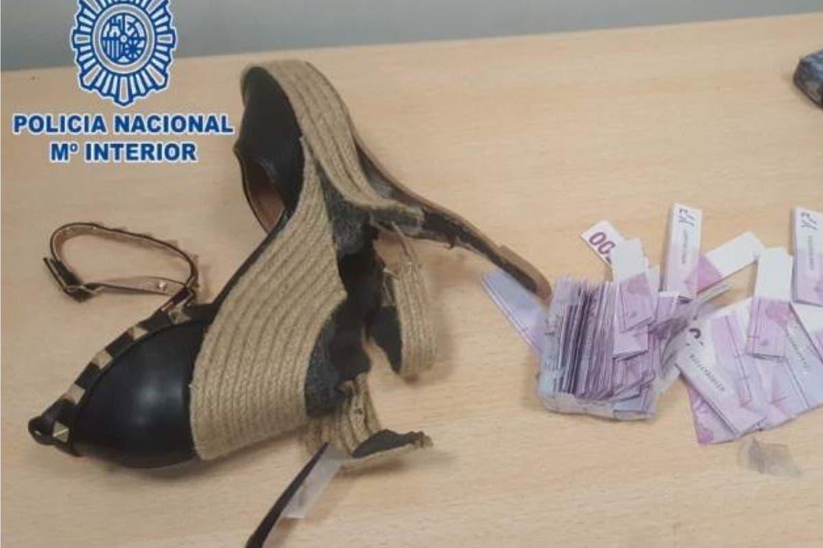 Detenida en Barajas con 180.000 euros en los tacones