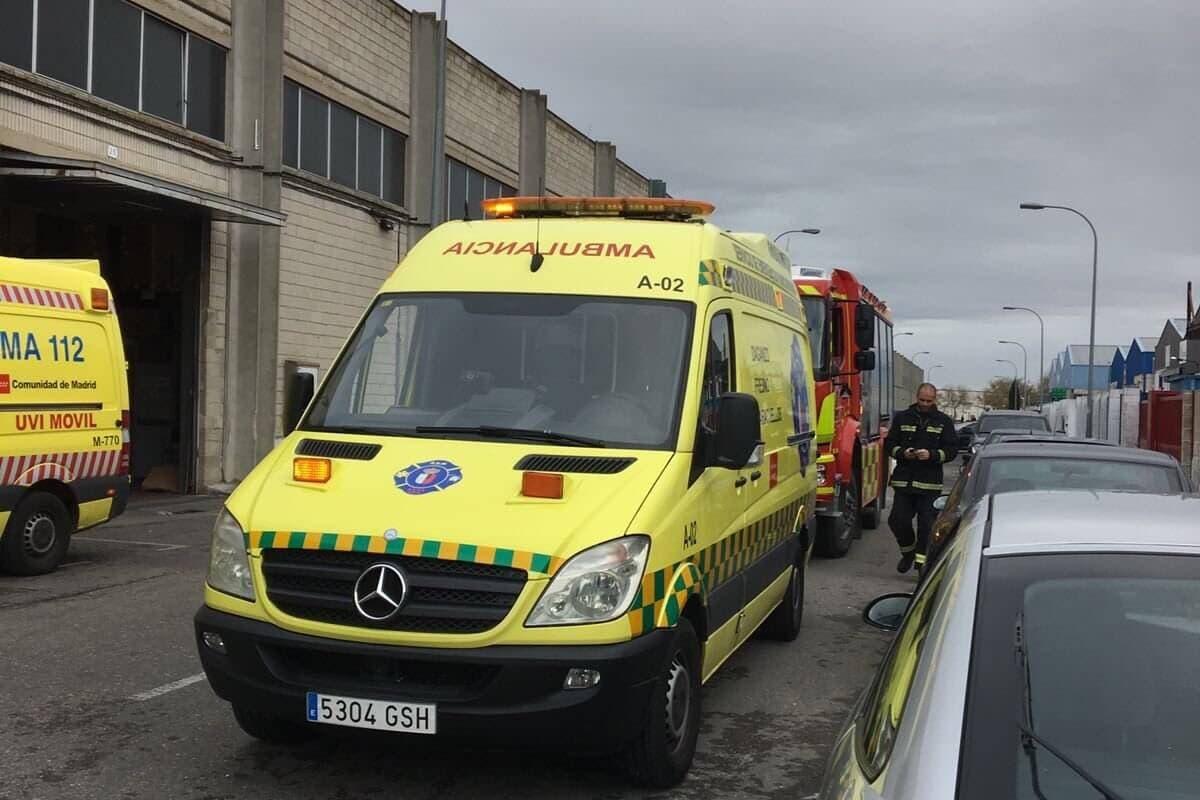 Dos heridos graves tras una explosión en una empresa de Daganzo