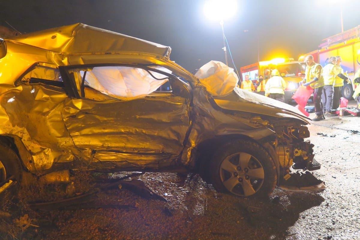 Un muerto y tres heridos, uno crítico, en un accidente en Madrid