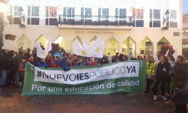 Arganda se echa a la calle para reclamar un nuevo instituto bilingüe
