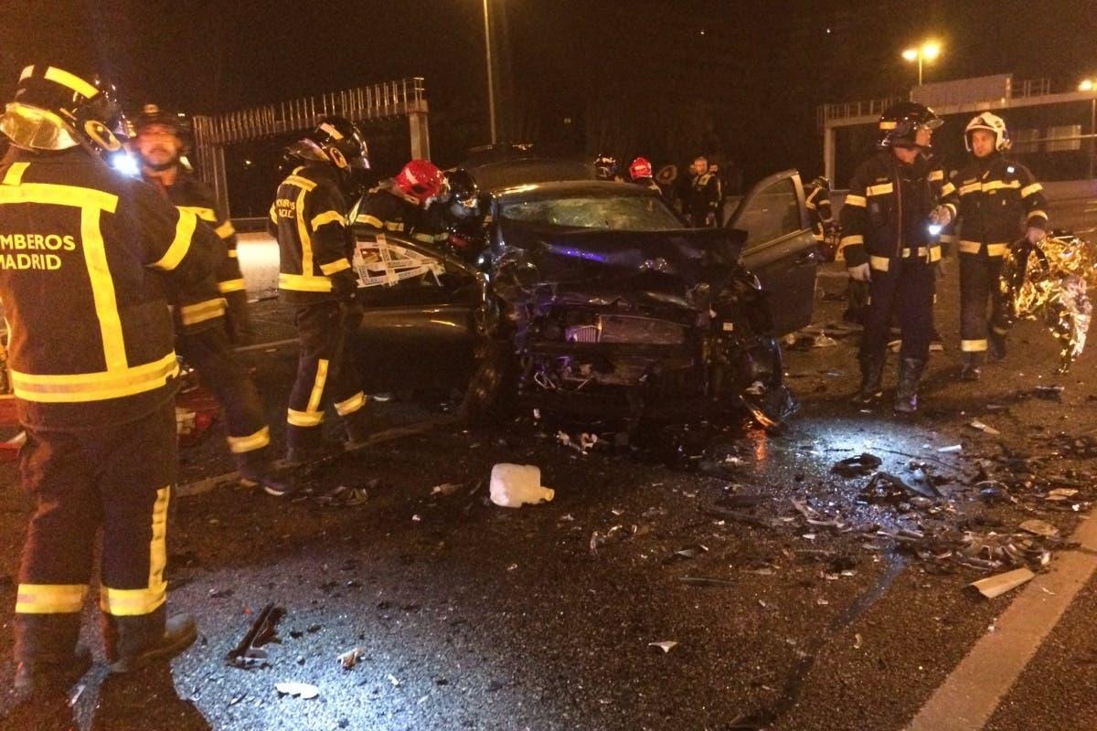 Un coche que al parecer circulaba en dirección contraria deja 4 heridos en la M30