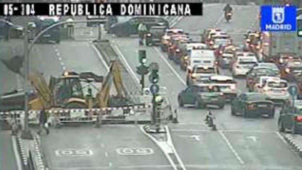 Imagen de una de las cámaras de tráfico del Ayuntamiento de Madrid.