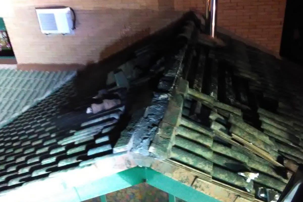 Un incendio en Alovera deja cuatro intoxicados, tres de ellos menores