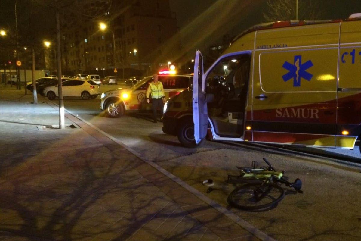 Herido muy grave un ciclista atropellado en Madrid