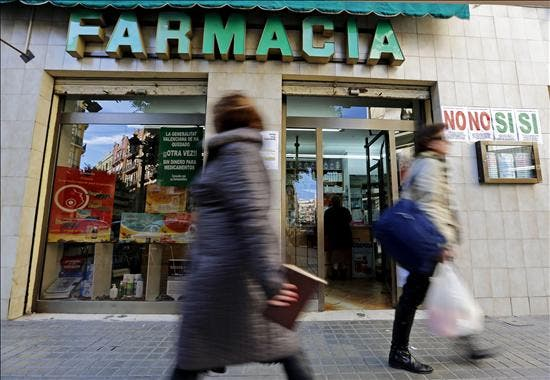 Cinco encapuchados roban a mazazos una farmacia en Madrid