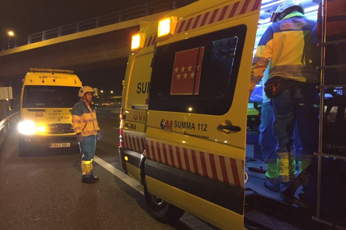 Herido grave tras ser atropellado en la M-40 por un conductor a la fuga