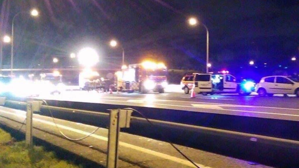 Imagen del accidente tomada por un lector (MiraCorredor.tv).