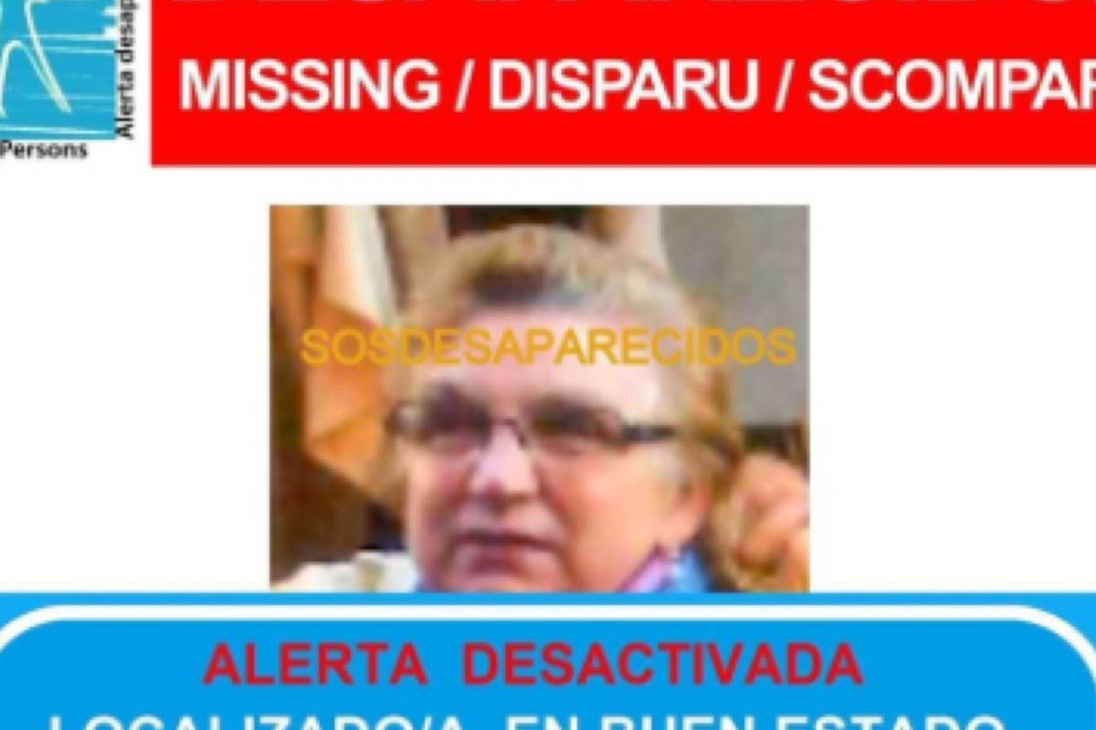 Localizada la anciana con Alzheimer desaparecida tras acudir a misa