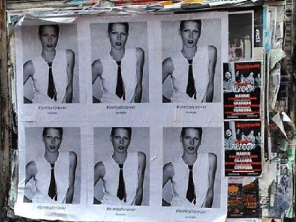 David Delfín empapela las calles de Madrid con la cara de Bimba Bosé