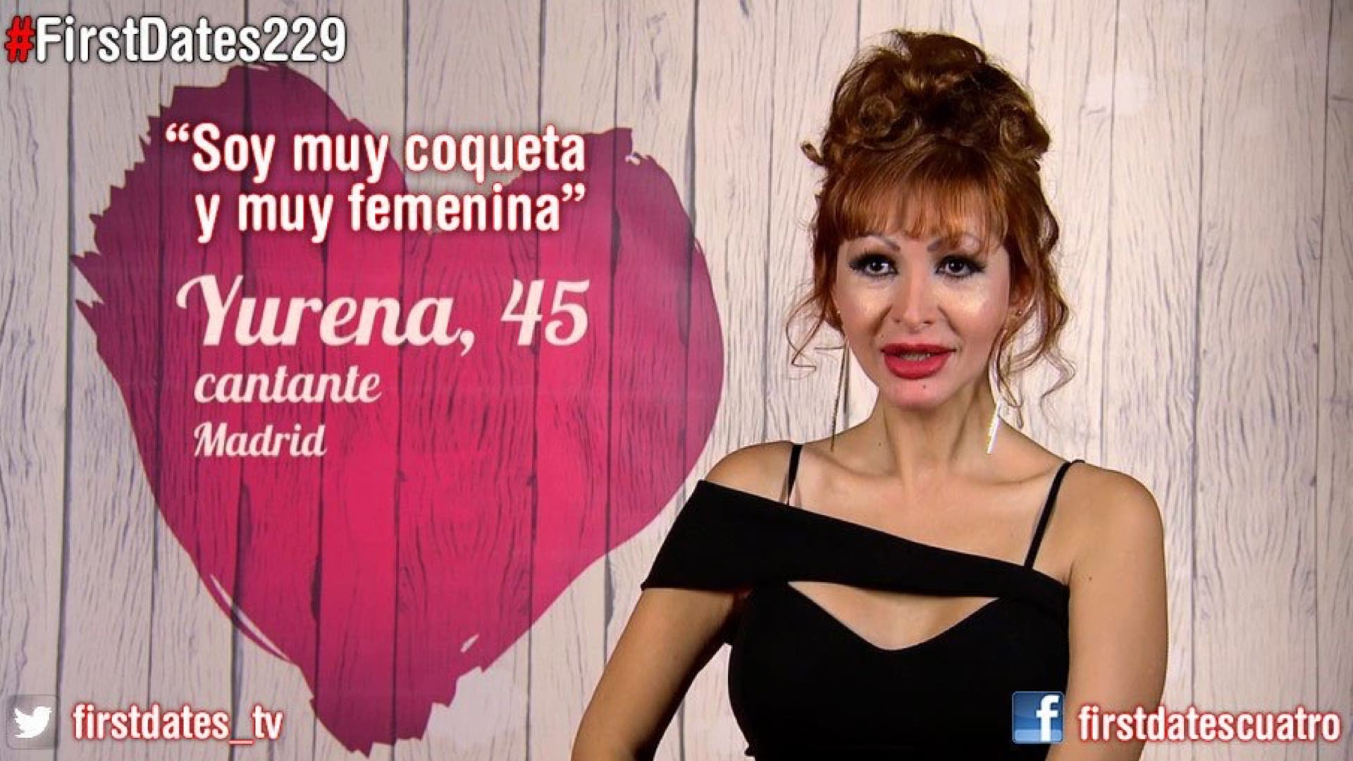 Yurena en First Dates (Cuatro).