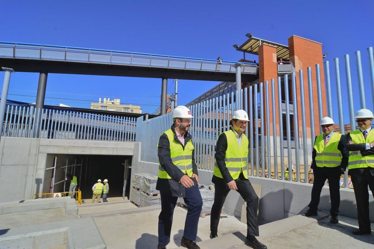 El nuevo acceso a la Estación de Torrejón estará listo antes de las Fiestas
