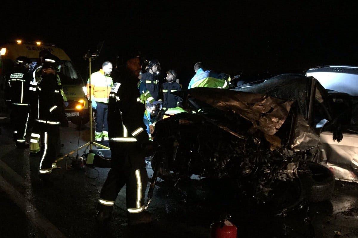 Dos muertos y dos heridos graves en un accidente en Madrid