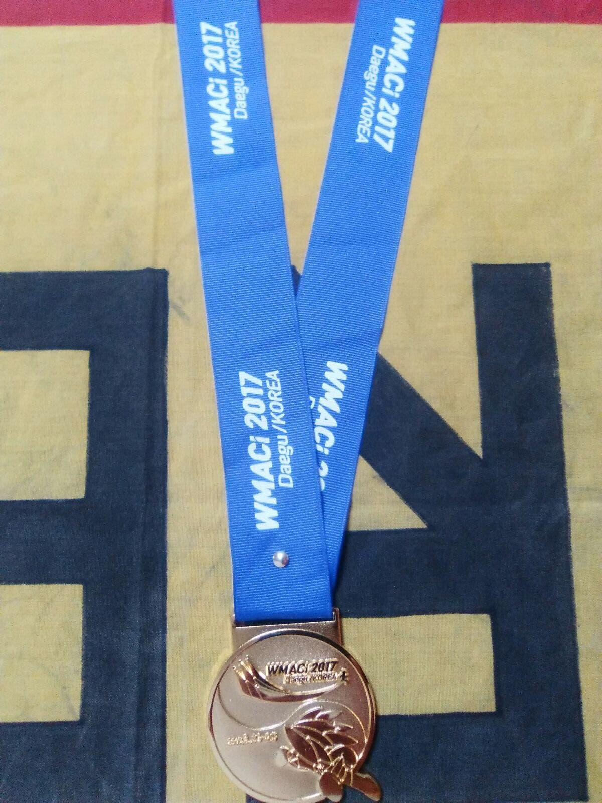 La medalla conseguida en Corea (Cedida).