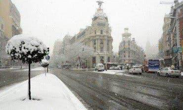La nieve sorprende a Madrid en primavera