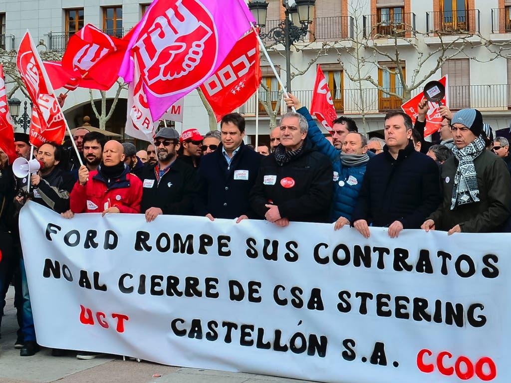 Los trabajadores de Castellón alzan la voz en Torrejón contra el cierre