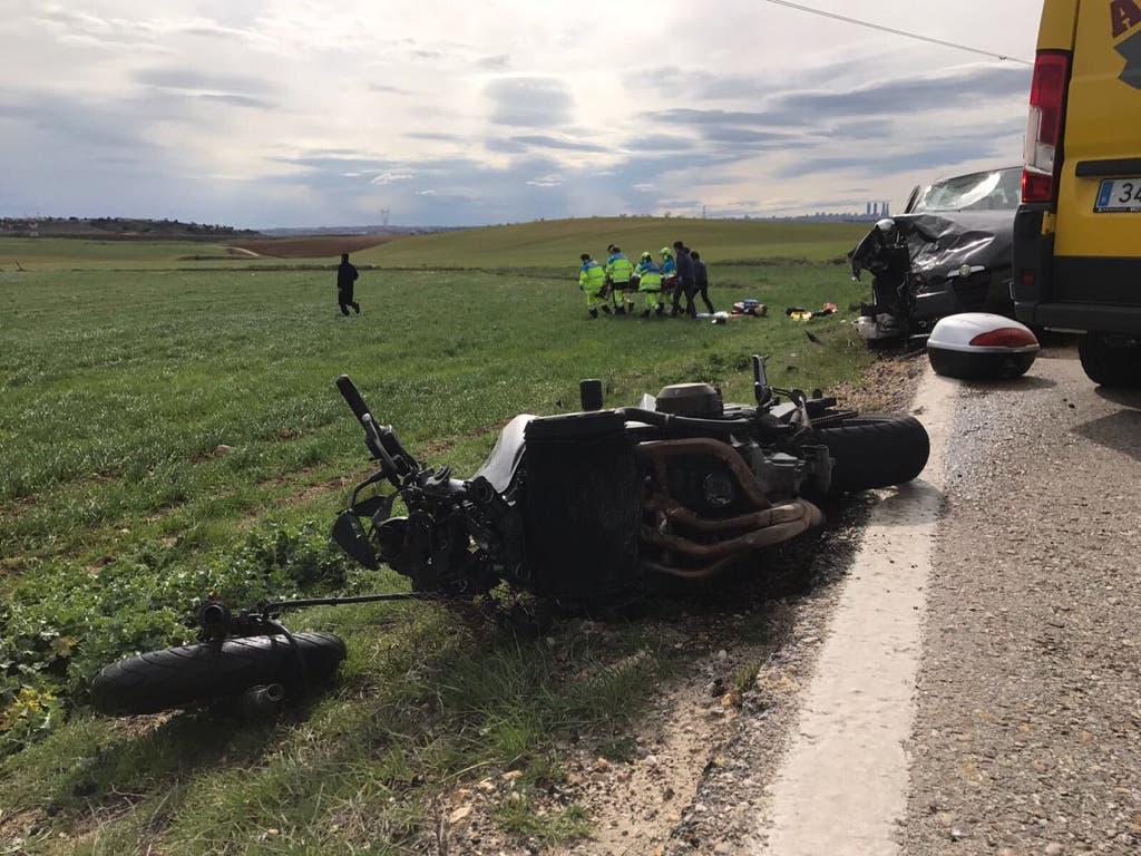 La moto implicada en el accidente (112).