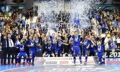 Torrejón celebra la victoria del Inter, campeón de la Copa de España