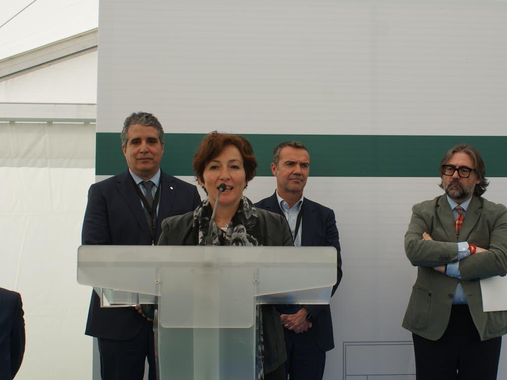 La alcaldesa de San Fernando durante su intervención en el acto (Ayto.).