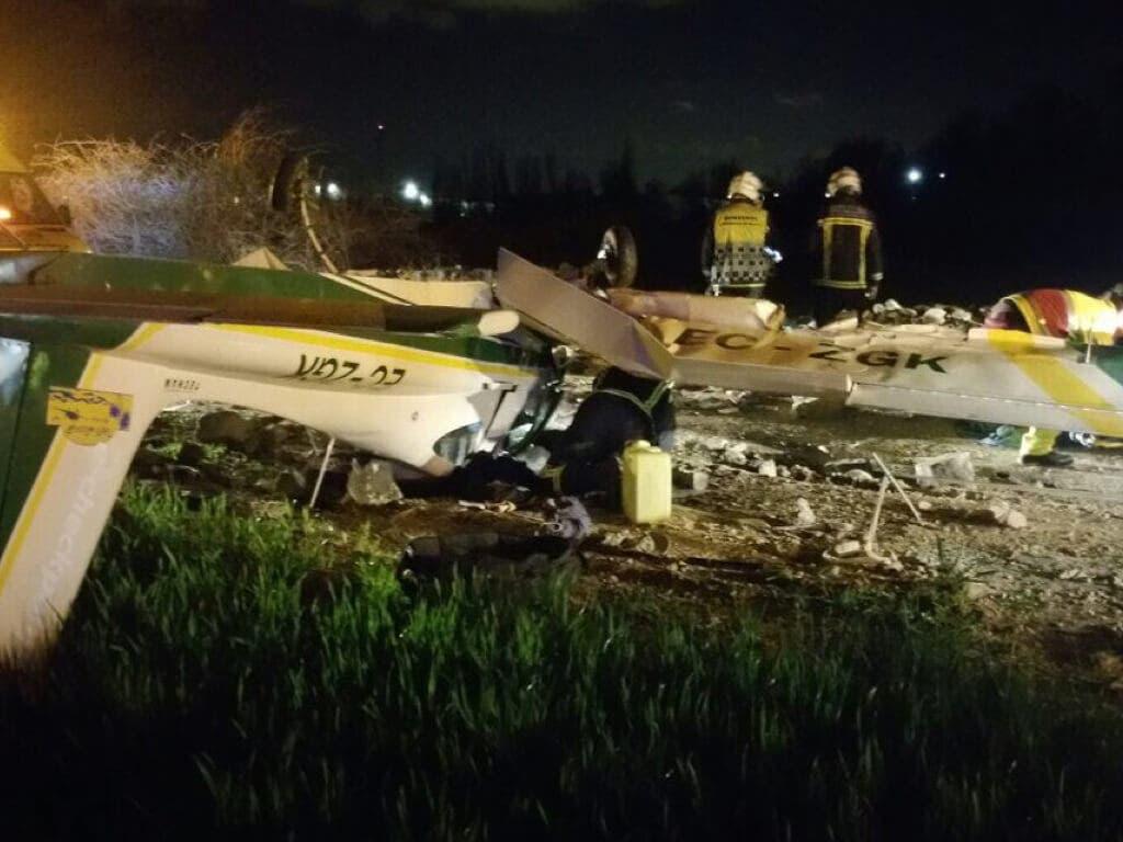 Dos heridos en un accidente de avioneta en El Molar