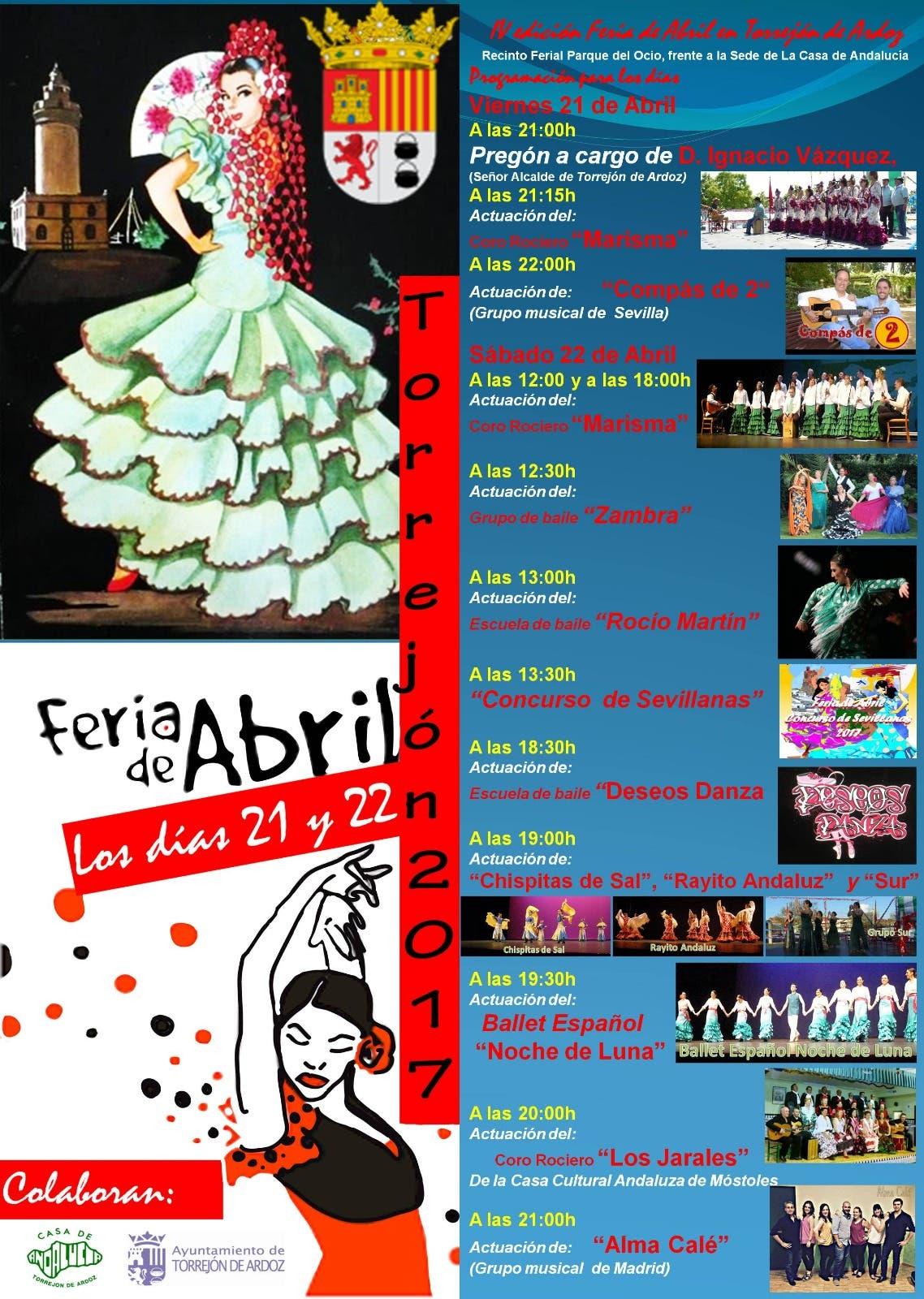 Cartel Feria de Abril Torrejón 2017