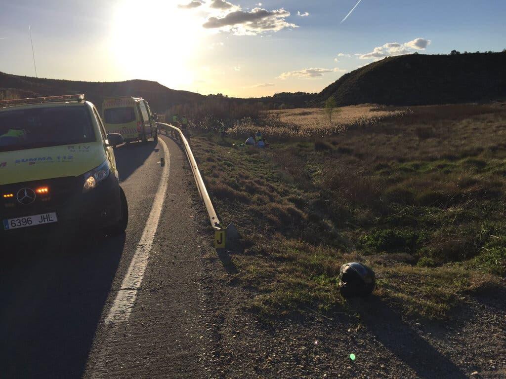 Fallece un motorista en la M-404