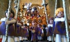 Un cofrade de Guadalajara monta en Madrid la Semana Santa de Playmobil