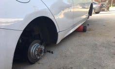 Aumentan los robos de ruedas de coche en Velilla de San Antonio