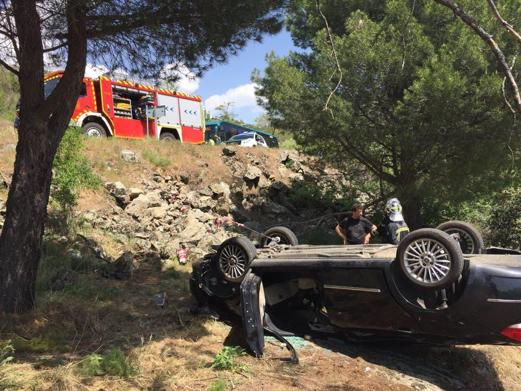 Muere una mujer en Madrid al caer su coche por un terraplén