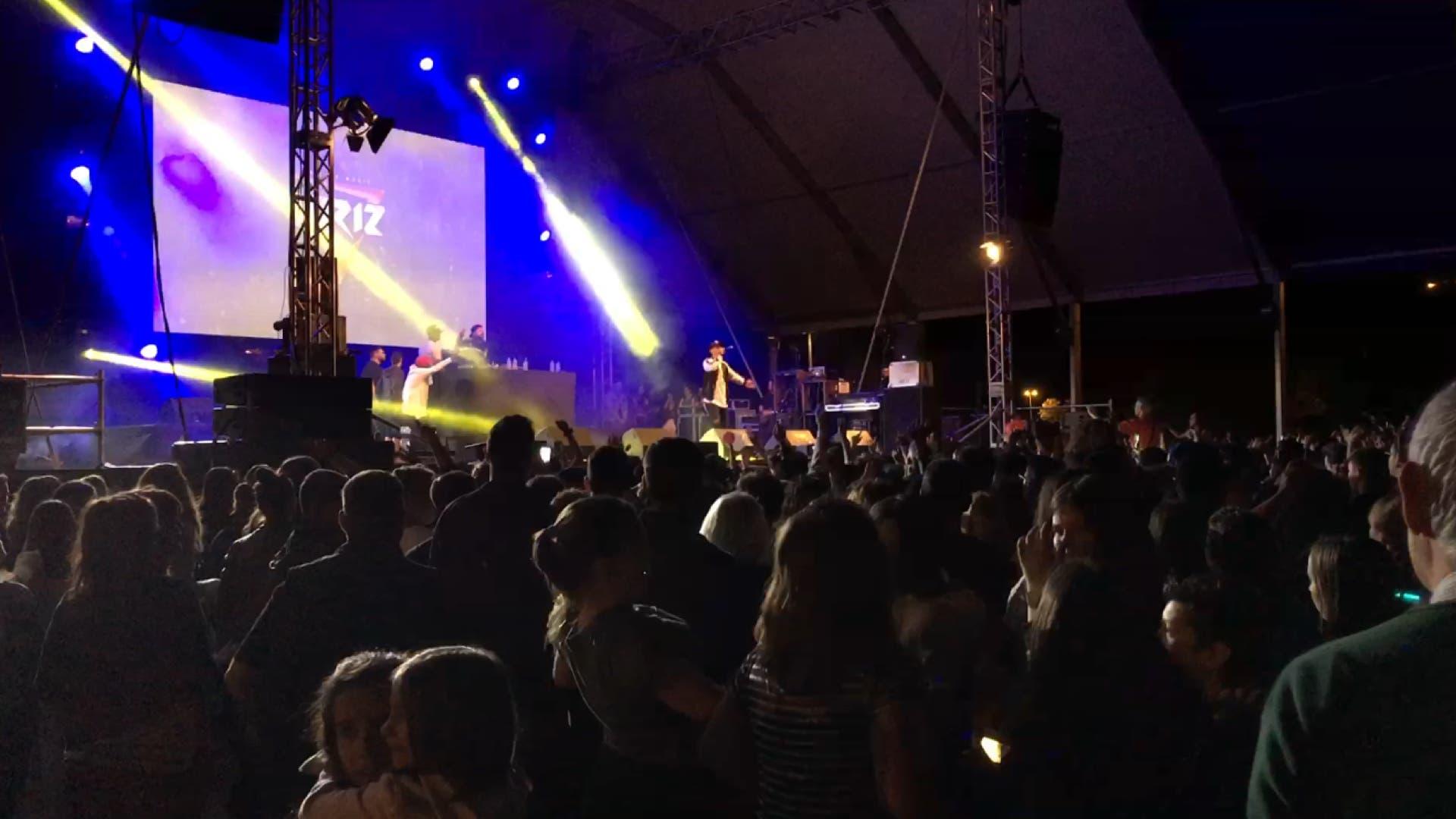 Xriz en el escenario del Dance Park Festival.