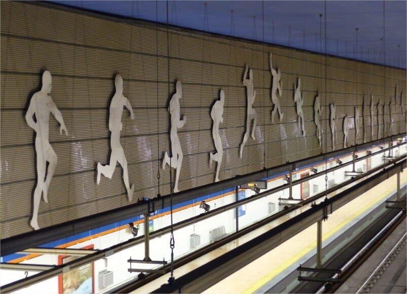 La estaci n m s grande de metro para el wanda for Puertas wanda metropolitano