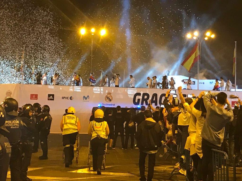 28 personas atendidas en la celebración madridista de Cibeles