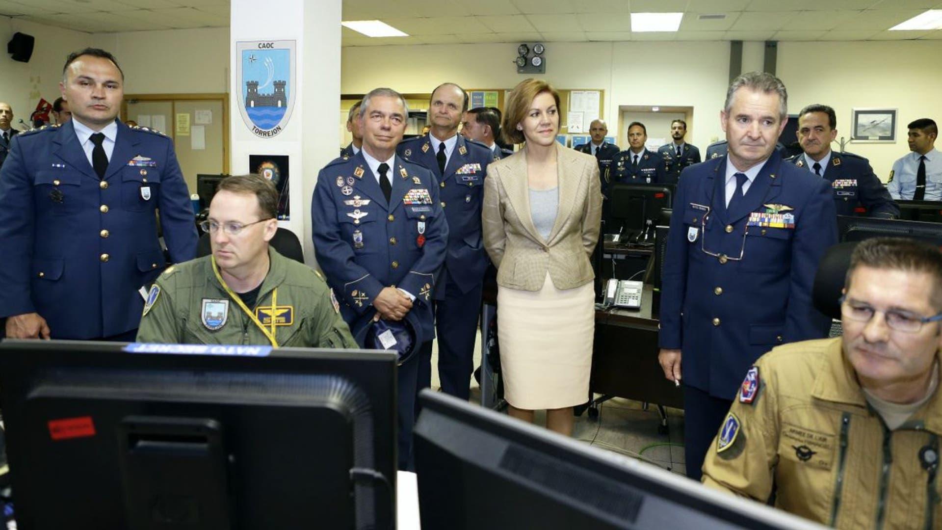 Cospedal en la Base de Torrejón (Ministerio de Defensa).