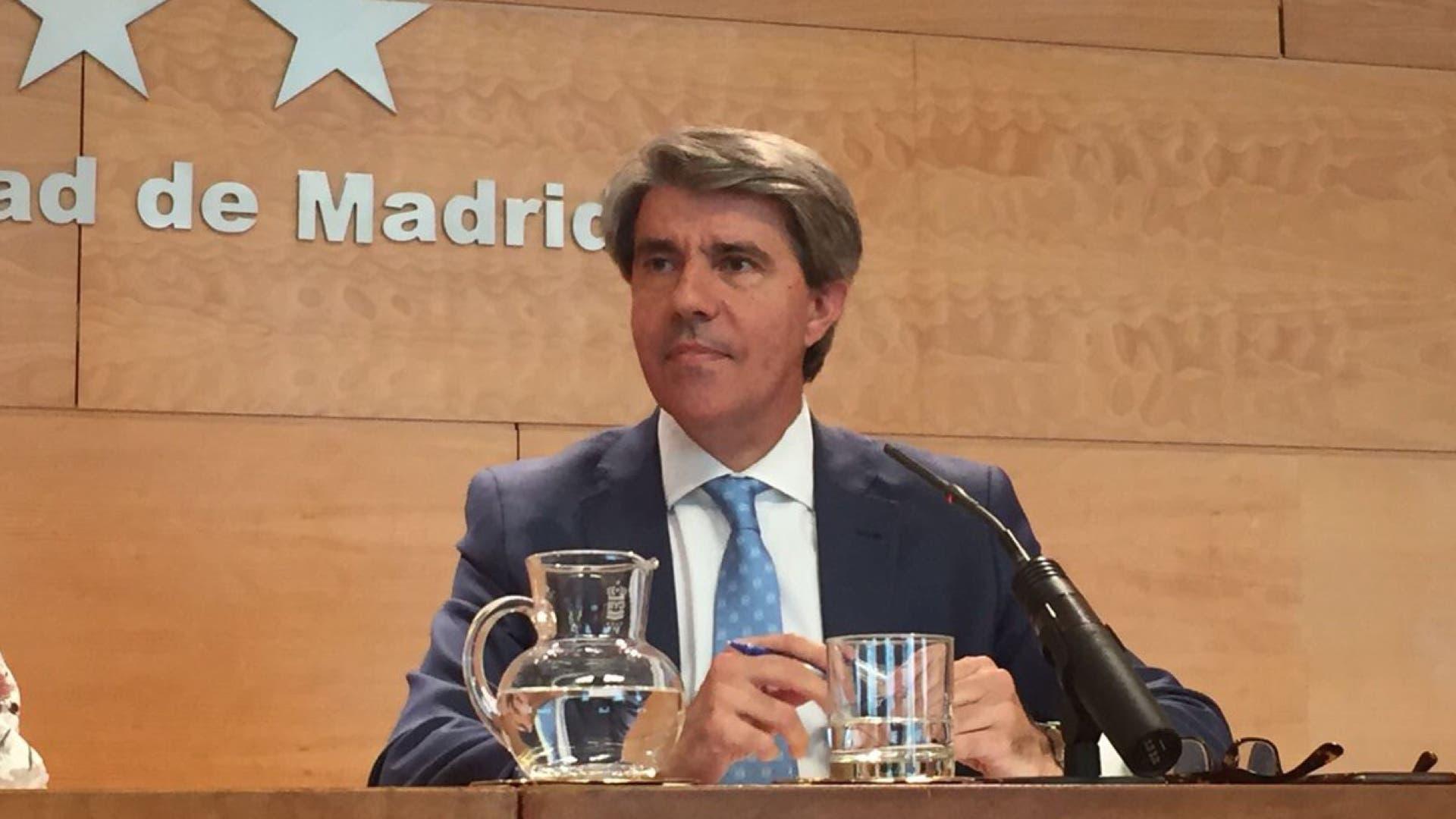 El consejero de Presidencia y Justicia, Ángel garrido, en la rueda de prensa posterior al Consejo de Gobierno.