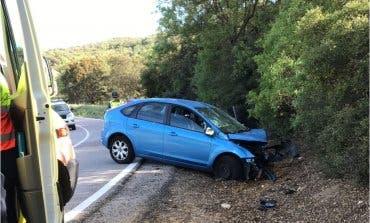 Un herido grave en un accidente de tráfico en Villar del Olmo