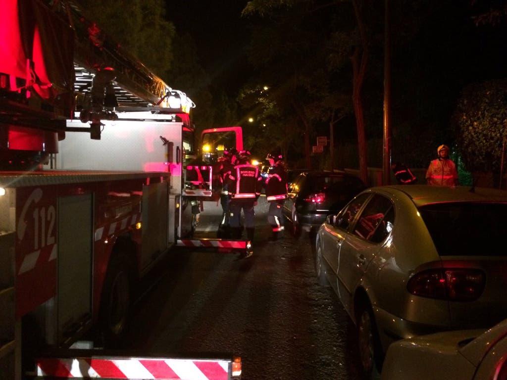 Un incendio en Madrid deja dos mujeres heridas de gravedad