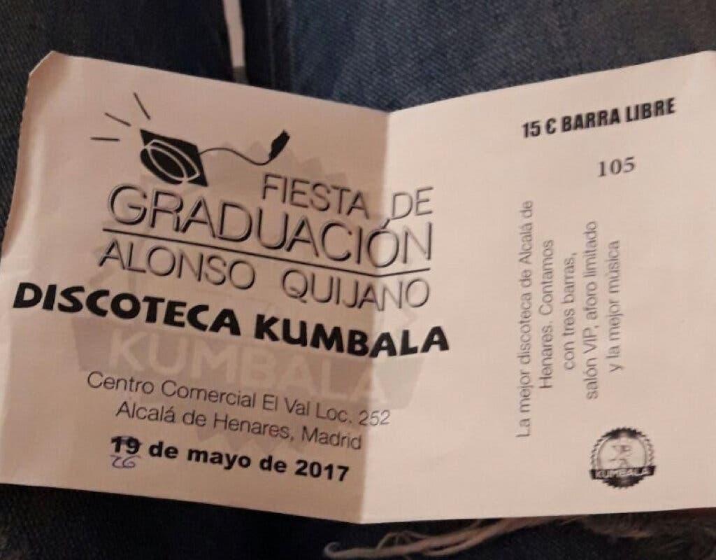 Alumnos de Alcalá de Henares se quedan sin fiesta de graduación y sin dinero
