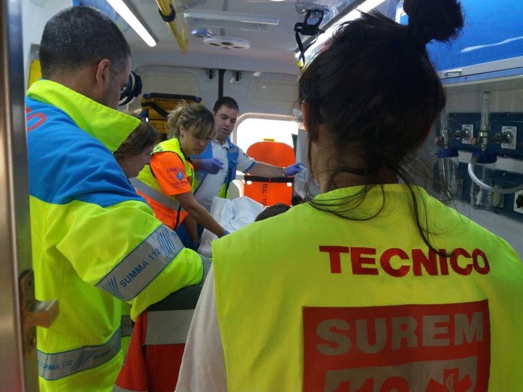 Herido grave tras caer desde una altura de tres metros en Nuevo Baztán