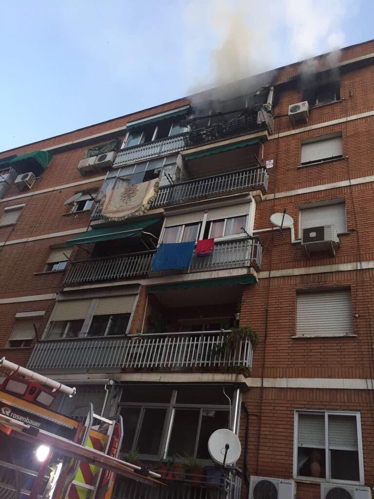 El piso afectado por el fuego (112).