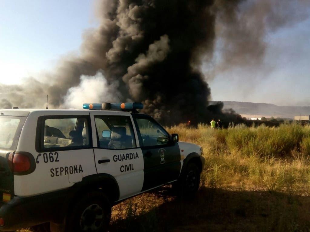 Multa de un millón de euros para la empresa del incendio de Chiloeches