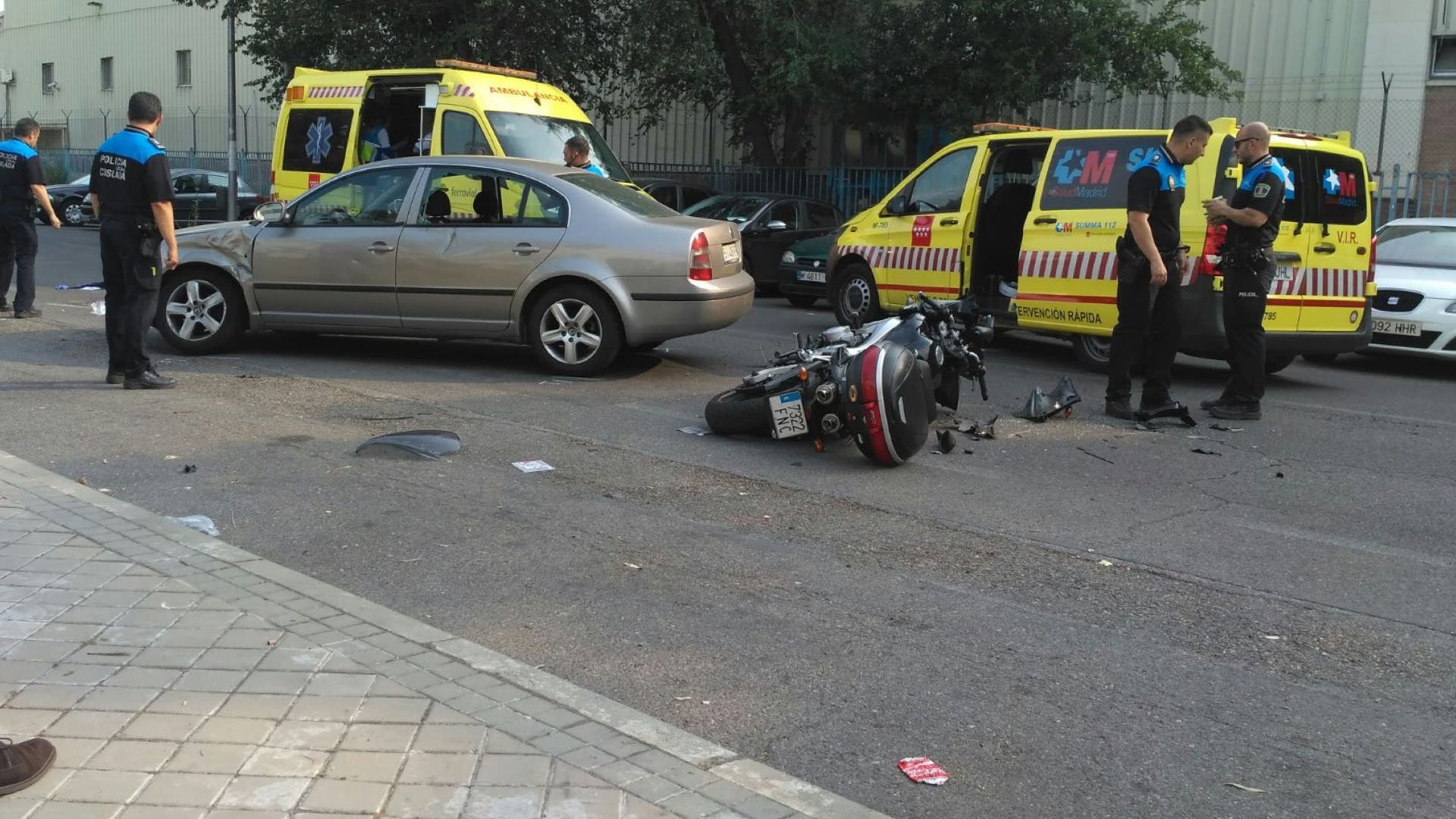 Imagen del accidente remitida a MIraCorredor.tv.