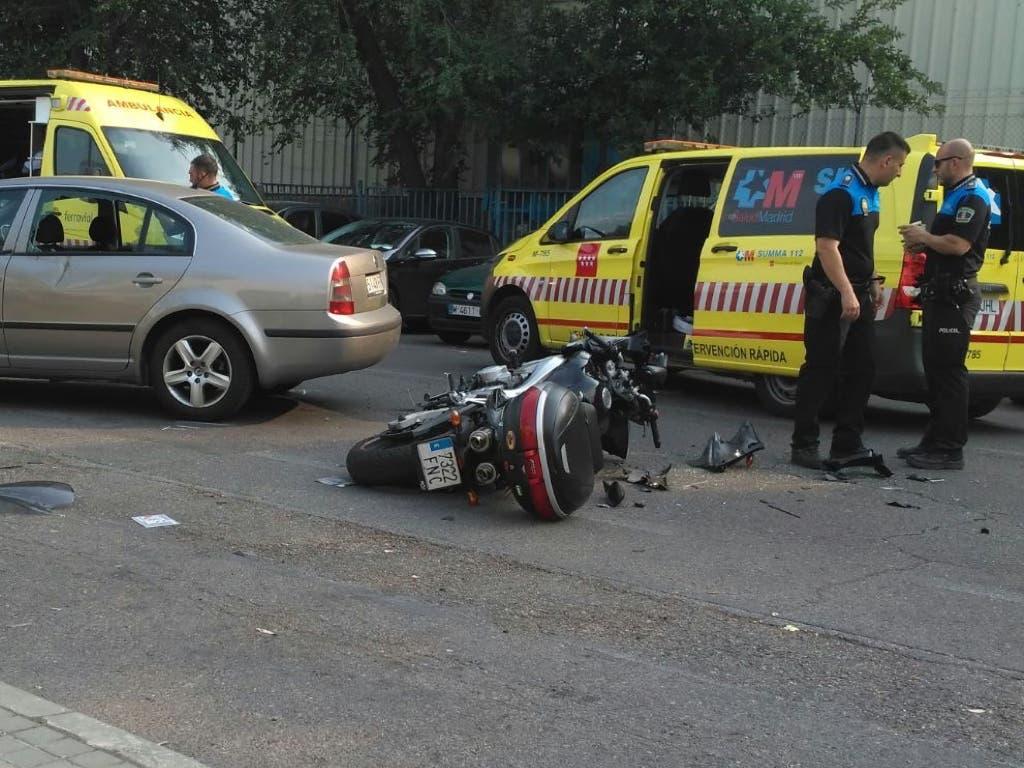 En estado crítico un motorista tras sufrir un accidente en Coslada