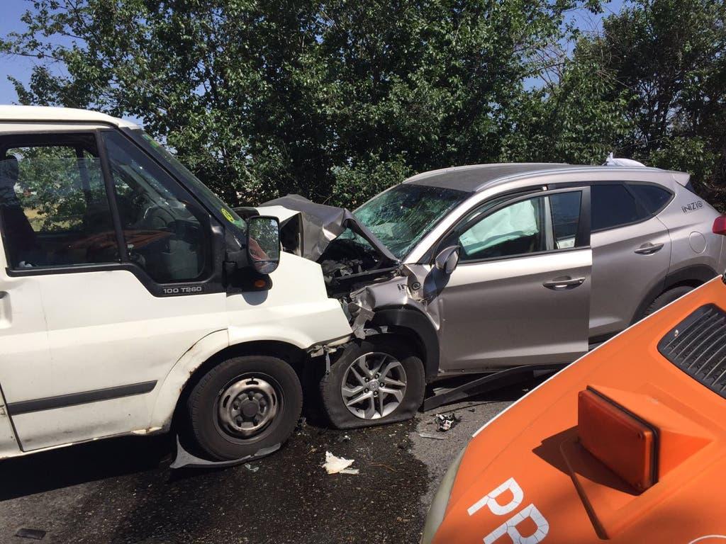 Cuatro heridos, dos graves, en un accidente en la M-511