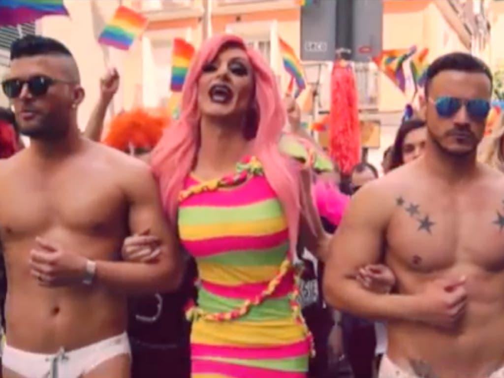 La drag queen Kika Lorace pone himno al World Pride Madrid 2017