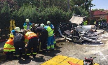 Un joven herido muy grave en un accidente en Arganda del Rey