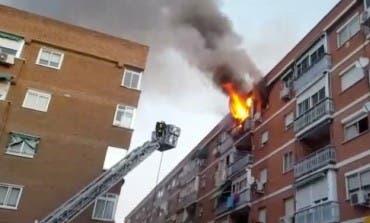 Espectaculares imágenes del incendio de este sábado en Torrejón