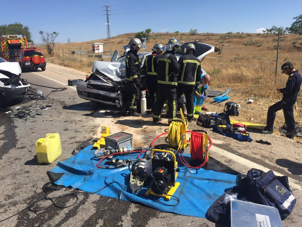 Un choque entre dos vehículos deja un herido grave en la M-841