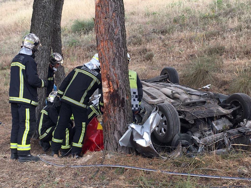 Muere un conductor en Santorcaz tras chocar contra un árbol
