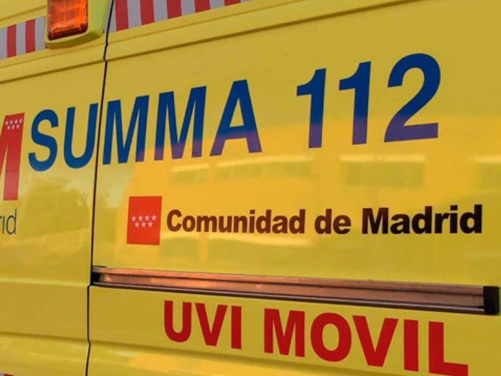 Herido grave un motorista tras sufrir un accidente cerca del Safari Park de Madrid